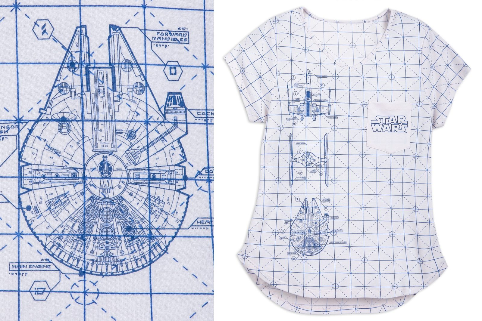 Women's Star Wars Blueprint Tee at Shop Disney