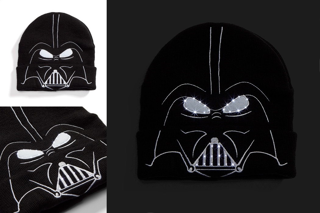 Star Wars Darth Vader Light Up Beanie at ThinkGeek