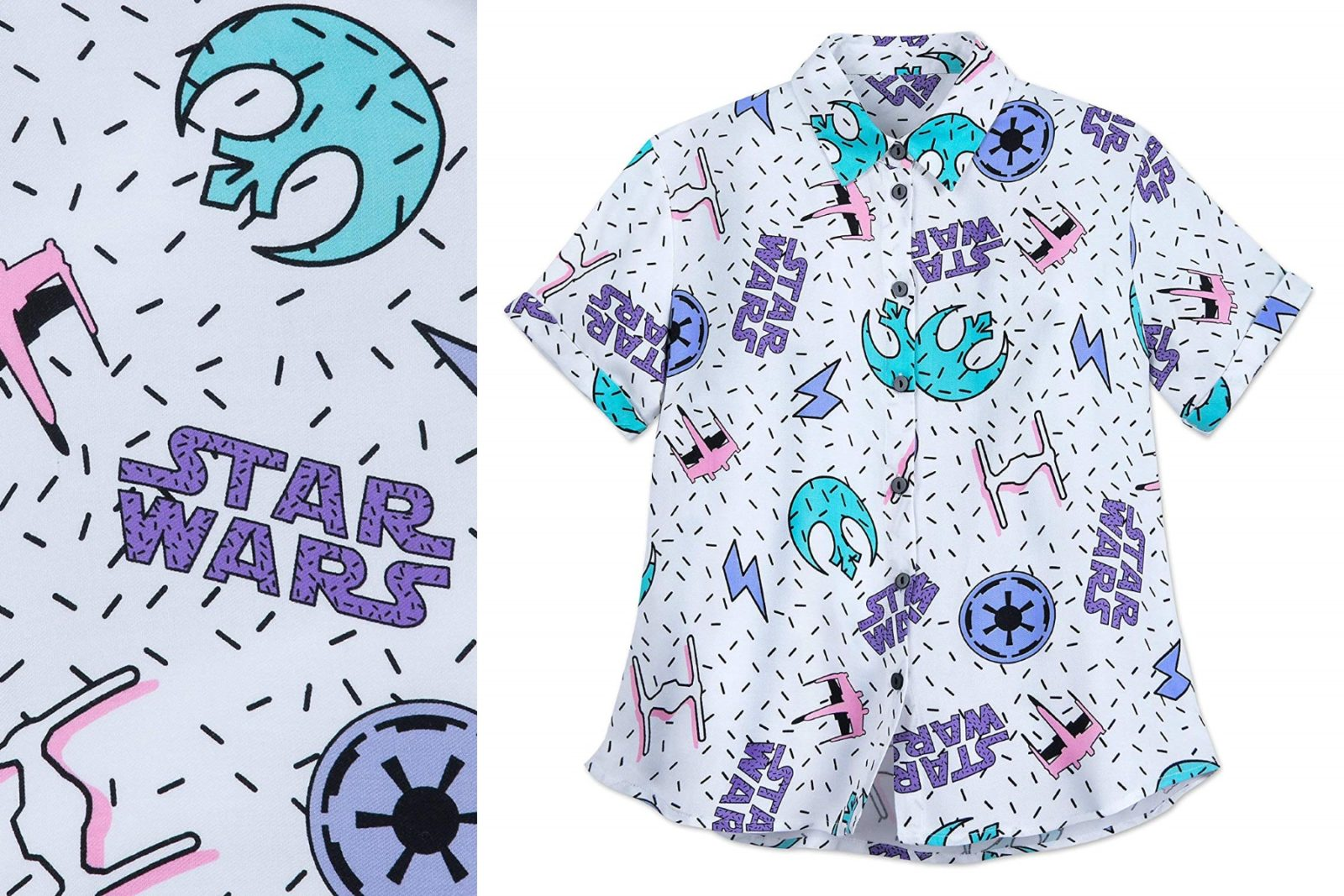 Women's Star Wars Button-Up Shirt on Amazon