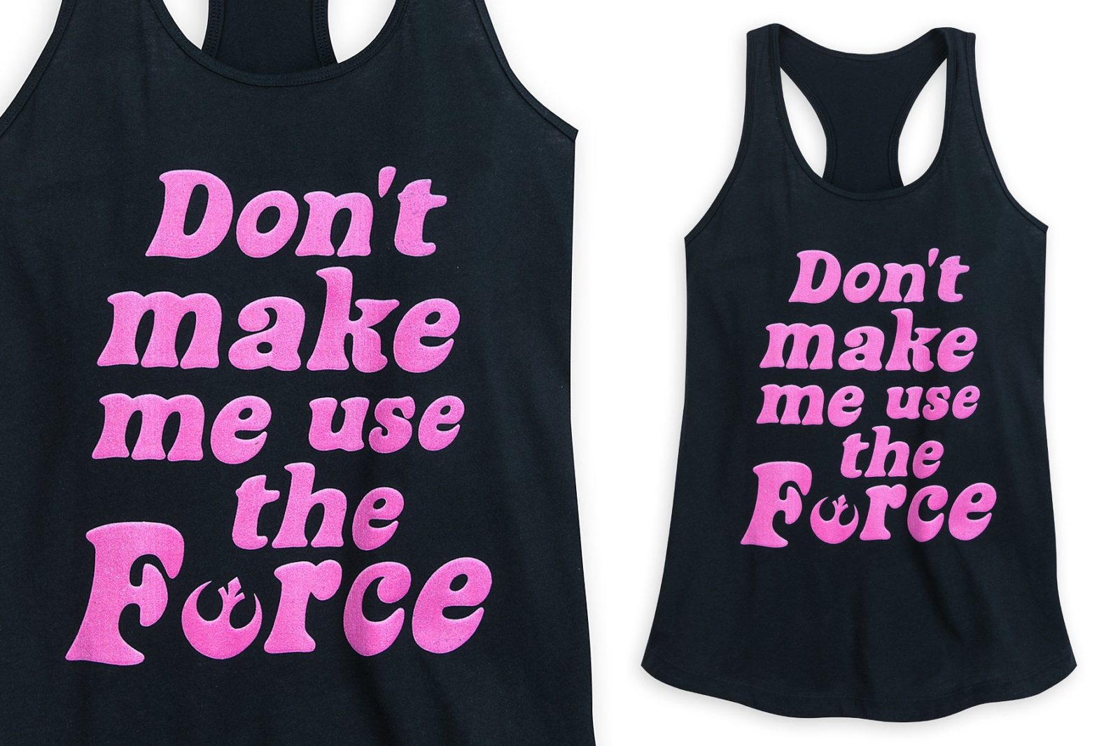Women's Star Wars Don't Make Me Use The Force Tank Top at Shop Disney