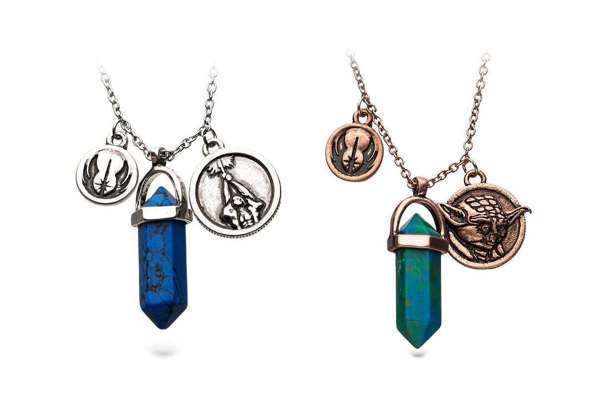 Star Wars Kyber Crystal Necklaces at ThinkGeek