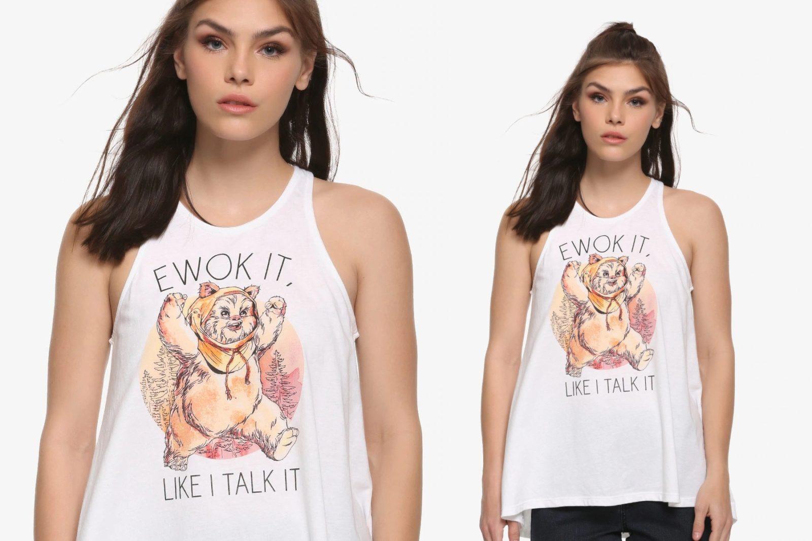 Women's Star Wars Ewok It Like I Talk It Tank Top at Box Lunch