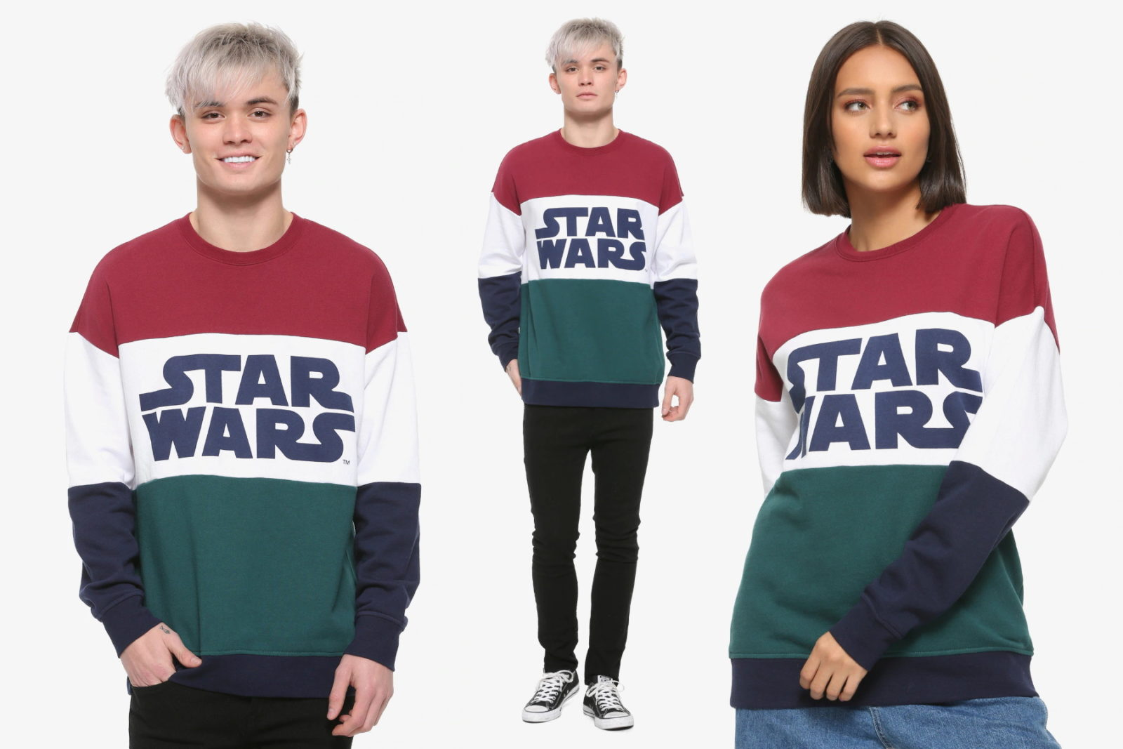 Our Universe Star Wars Color Block Sweatshirt at Her Universe