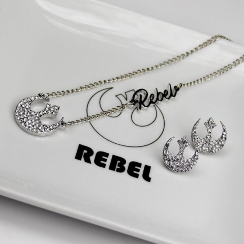 Bioworld Star Wars Rebel Alliance Necklace and Earrings Set