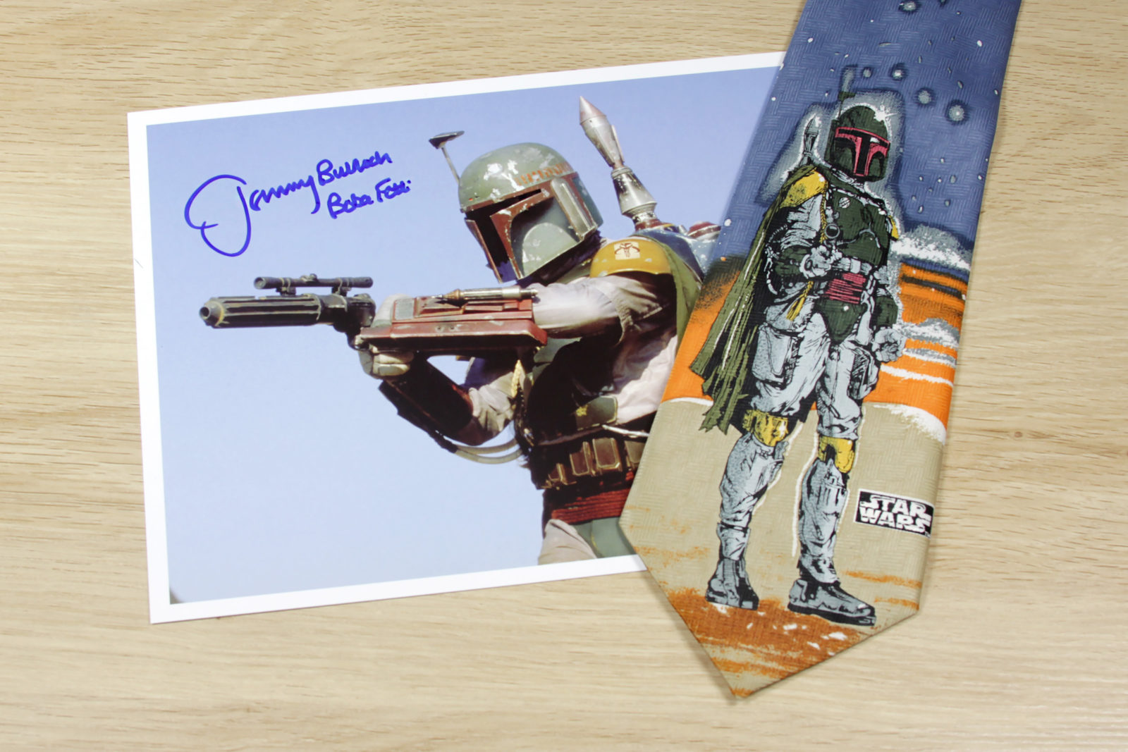 Boba Fett Tie and Autograph